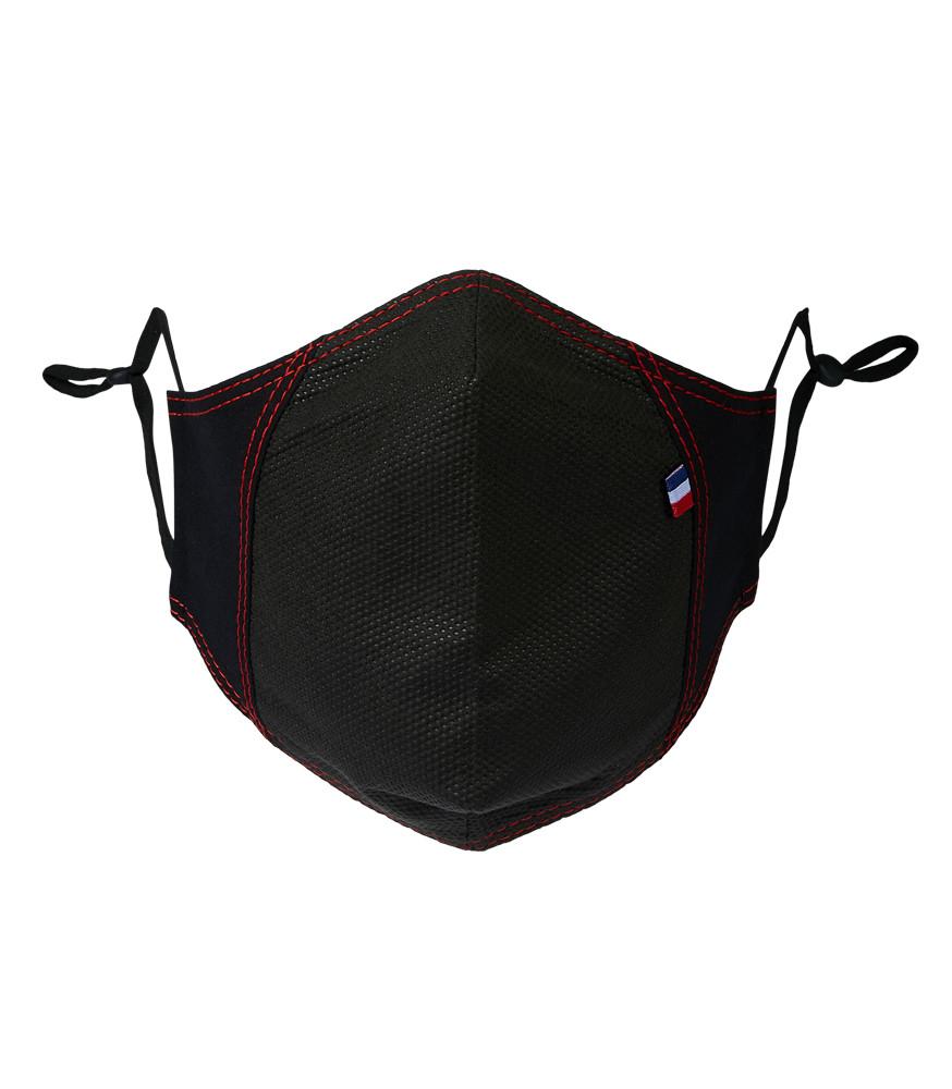 MASQUE TEDDY (PPRO) noir surp rouge face