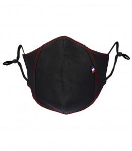 MASQUE TYSON (POLYPP) noir face surp rouge