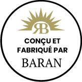 Logo conçu et fabriqué par BARAN