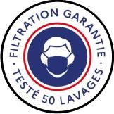 Logo filtration garantie testé 50 lavages